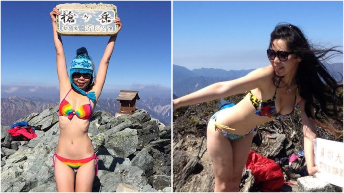 Image result for bikini mountain climber froze to death