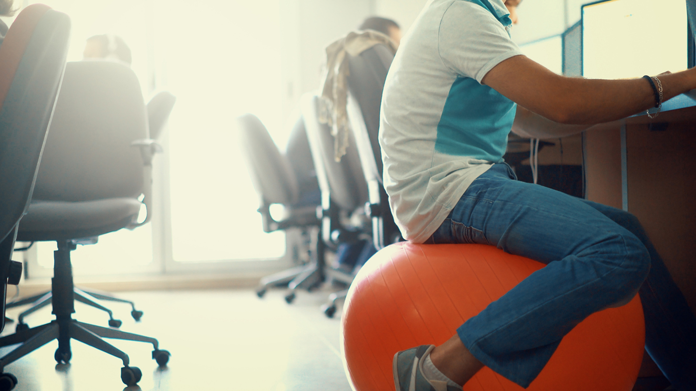 Thinking of sitting on an exercise ball at work Heres