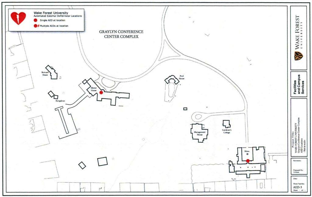 AED Locations (Graylyn and Reynolda Village