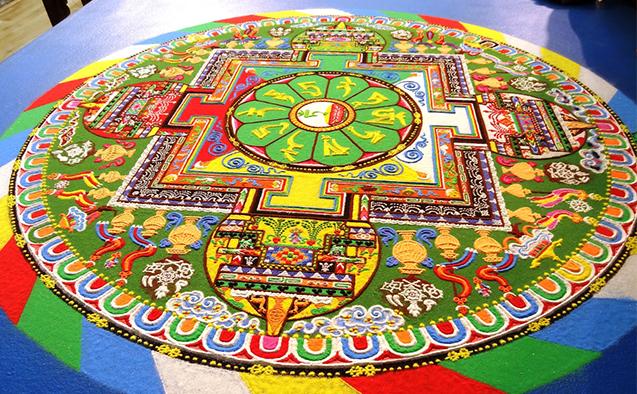Tibetan monks to create sand mandala at WFUs Hanes art