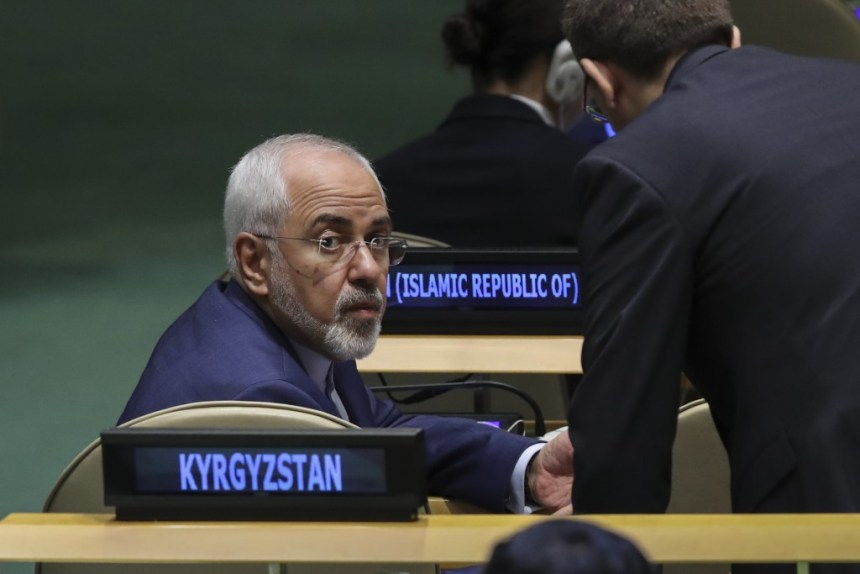 NEW YORK, NY - SEPTEMBER 20: Mohammad Javad Zarif Khonsari, the foreign minister of Iran, attends the United Nations General Assembly at UN headquarters, September 20, 2017 in New York City. The most pressing issues facing the assembly this year include North KoreaÕs nuclear ambitions, violence against the Rohingya Muslim minority in Myanmar, and the debate over climate change. (Photo by Drew Angerer/Getty Images)