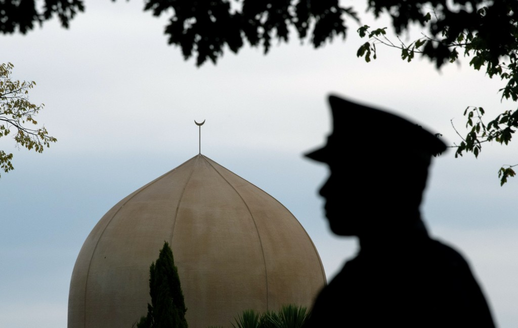 CHRISTCHURCH, NEW ZEALAND - MARCH 18: A police officer stands guard near Al Noor mosque on March 18, 2019 in Christchurch, New Zealand. 50 people were killed, and dozens are still injured in hospital after a gunman opened fire on two Christchurch mosques on Friday, 15 March. The accused attacker, 28-year-old Australian, Brenton Tarrant, has been charged with murder and remanded in custody until April 5. The attack is the worst mass shooting in New Zealand's history. (Photo by Carl Court/Getty Images)