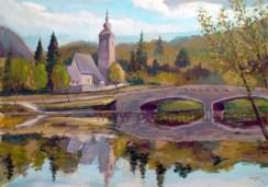 """""""Bohinj"""" (acrylics on canvas, 50x70cm)"""