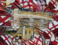 """""""San Siro stadium (oil on canvas,100x130)"""""""