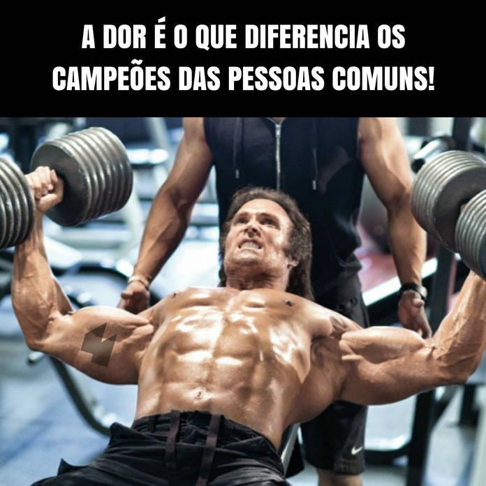 A dor é o que diferencia os campeões das pessoas comuns! - Frases de motivação