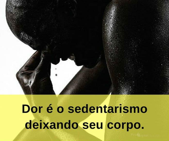 Dor é o sedentarismo deixando seu corpo - frases de incentivo
