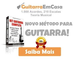 curso de guitarra - kit guitarra completa