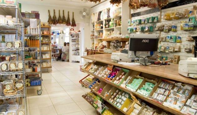 lojas de produtos naturais