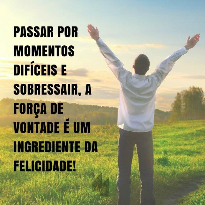 Passar por momentos difíceis e sobressair, a força de vontade é um ingrediente da felicidade!