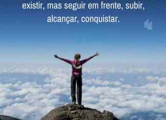 Frases de motivação - O significado da vida não é simplesmente existir, mas seguir em frente, subir, alcançar, conquistar.