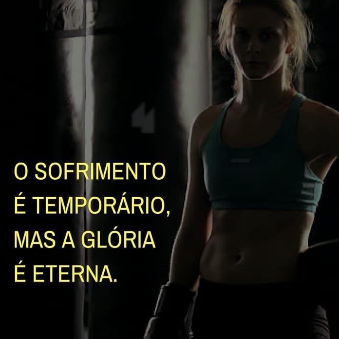 Frases de motivação - O sofrimento é temporário, mas a glória é eterna.