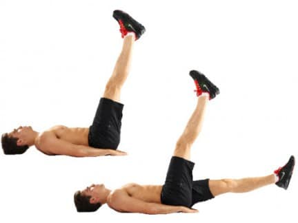 pernas alternadas - barriga chapada