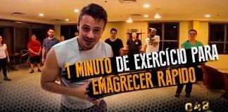 60 segundos de Exercício para Emagrecer Rápido.