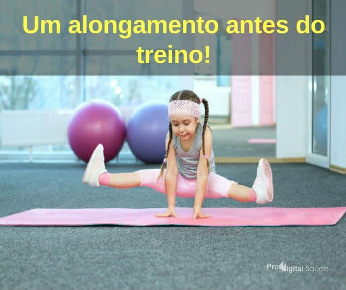 Um alongamento antes do treino! - frases de motivação