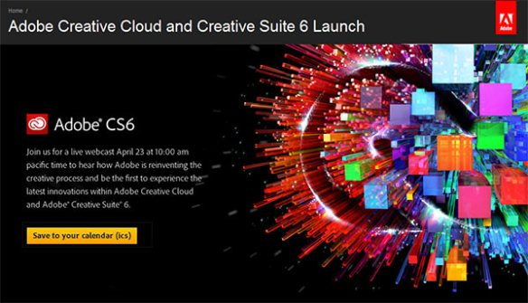 Adobe CS6 Launch Graphic
