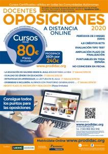 Cartel cursos Prodidac 2019-2020