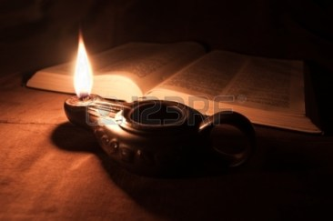 16757394-oil-lamp-and-bible