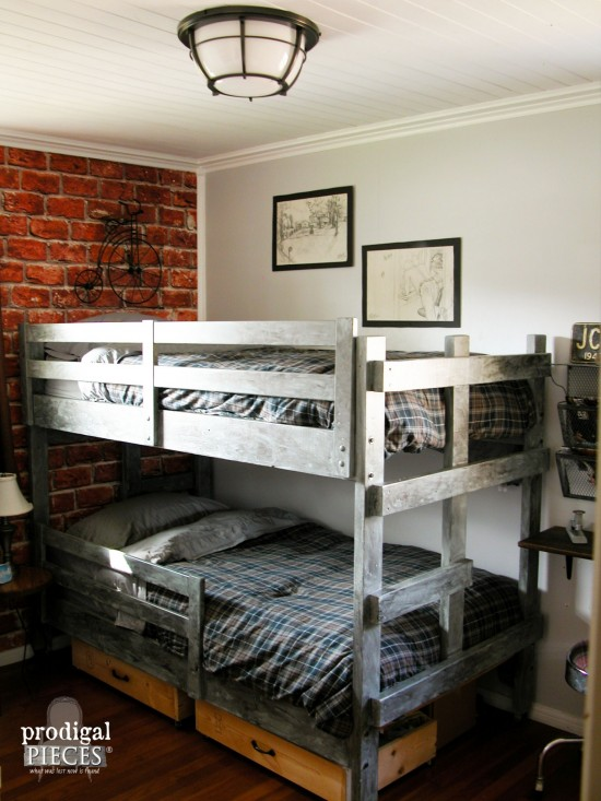 Teen Boys Room Reveal  Vintage Industrial Style  Prodigal Pieces