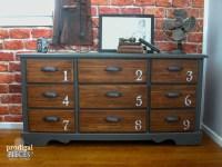 Vintage Dresser Features Industrial Vibe - Prodigal Pieces