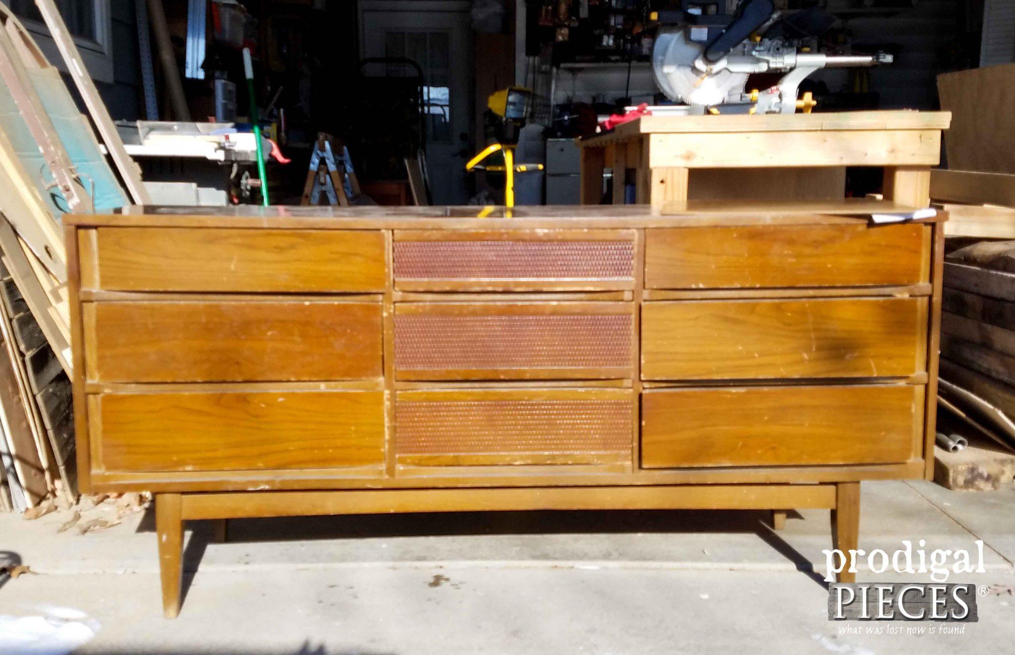 modern dresser makover mid century