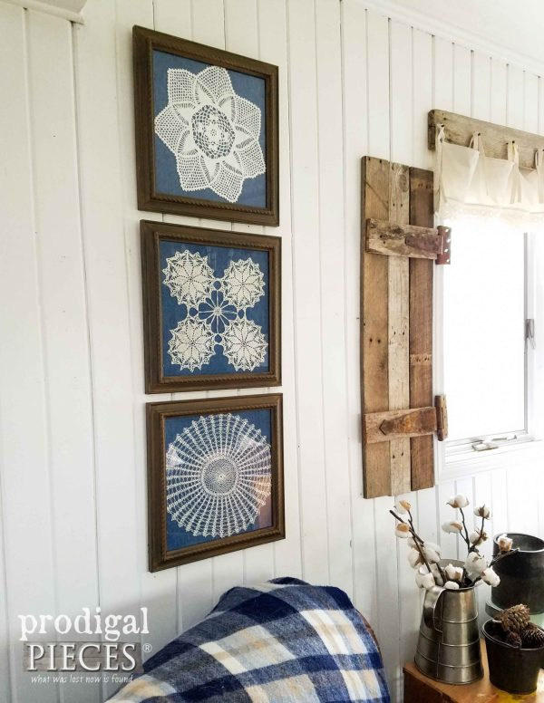 Framed Doily Wall Art Curbside Finds - Prodigal Pieces