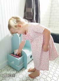 Potty Chair Makeover ~ Talking Toddler Style - Prodigal Pieces