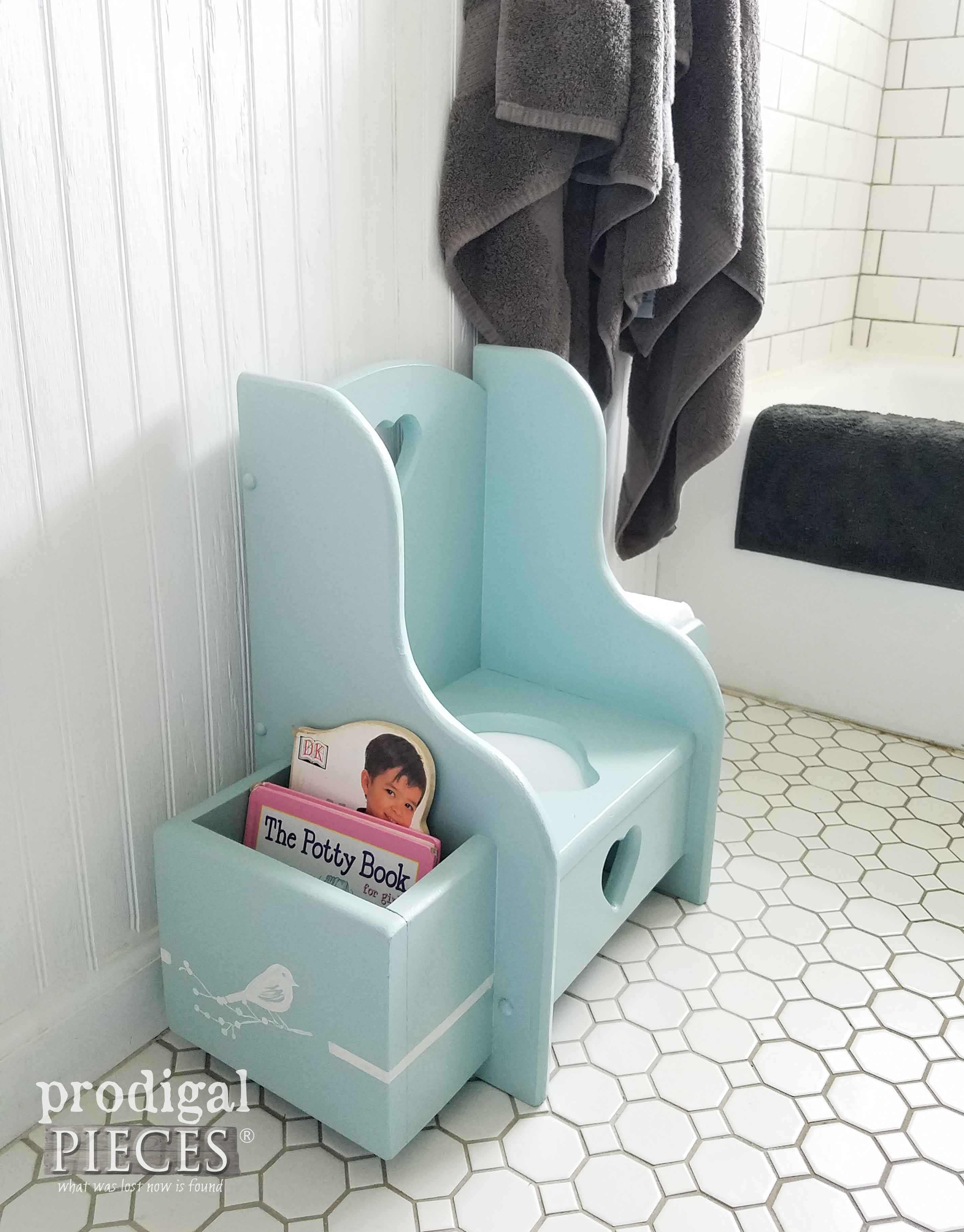 Potty Chair Makeover  Talking Toddler Style  Prodigal Pieces