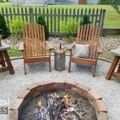 Adirondack Chairs Fire Pit Bedroom Commode Chair Diy Concrete Table Plus Solar Lamps Prodigal Pieces