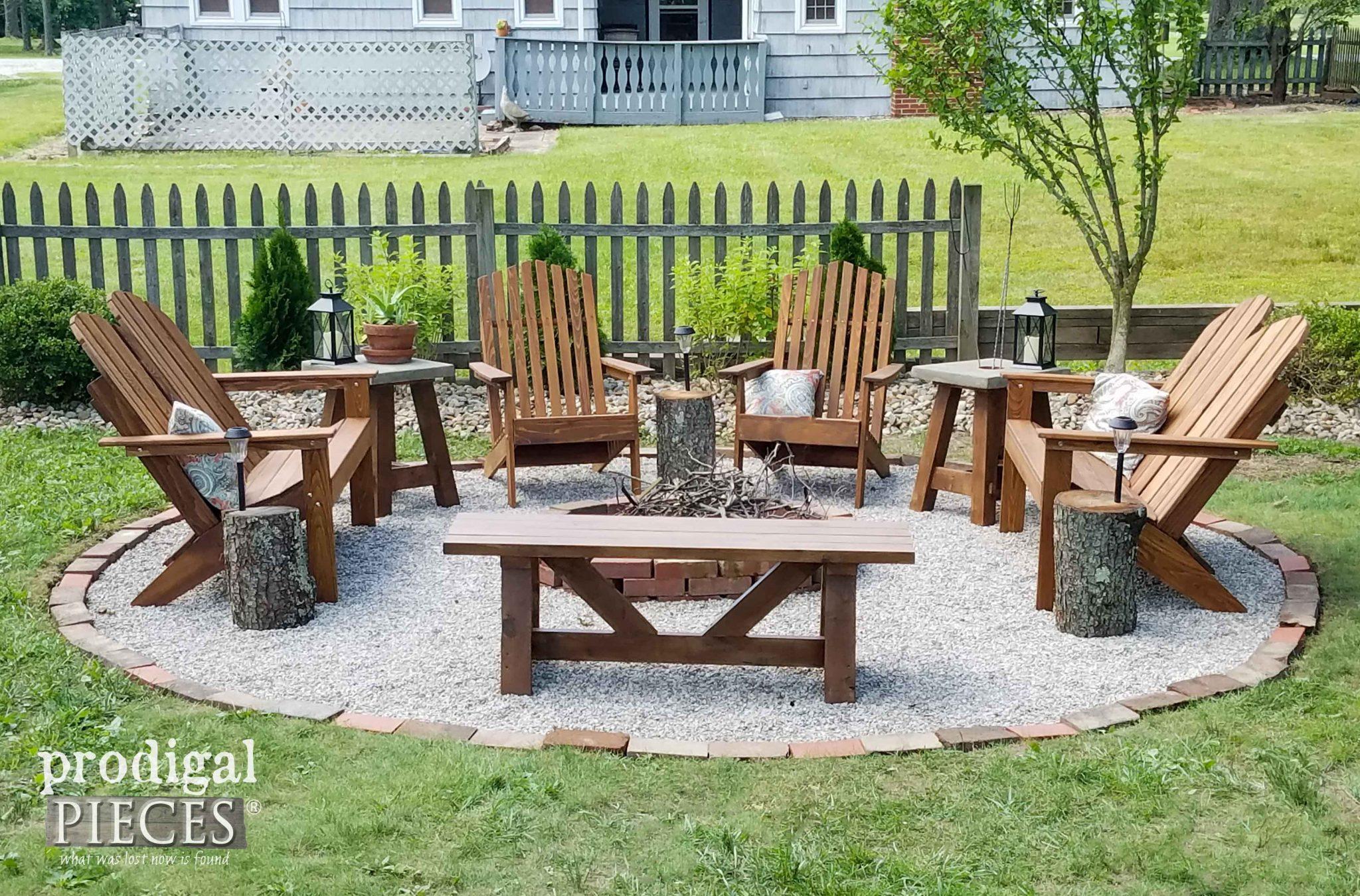 backyard fire pit chairs toddler chair walmart diy budget decor prodigal pieces