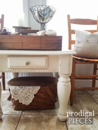 Farmhouse Side Table ~ How to Update Your Look - Prodigal ...