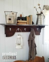 Repurposed Coat Rack ~ DIY by a PreTeen - Prodigal Pieces