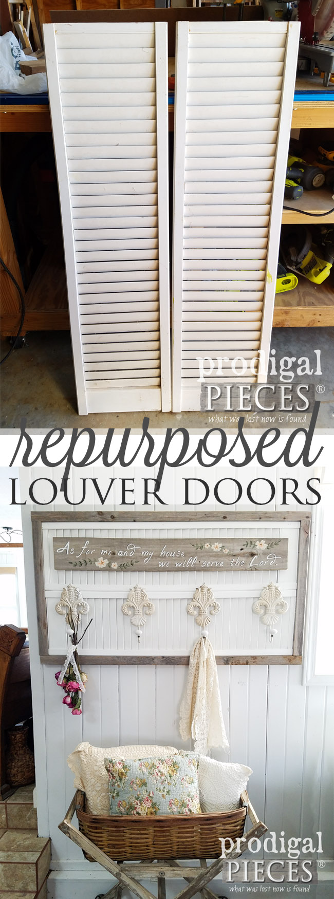 Upcycled Louver Door Corner Cabinet Prodigal Pieces