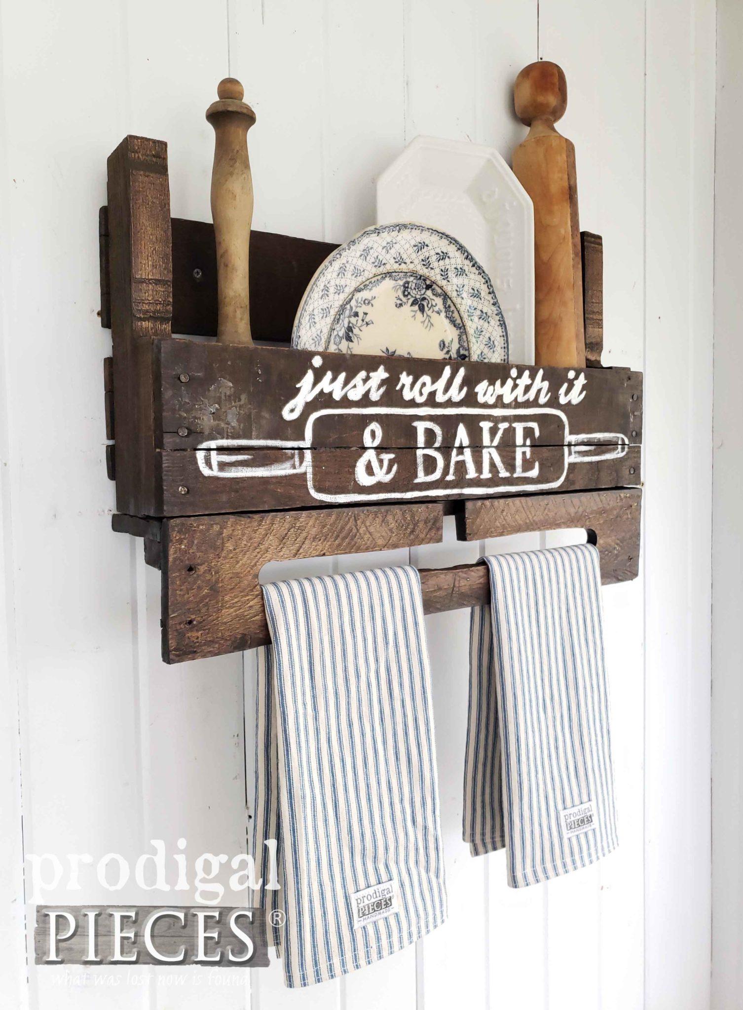 farmhouse towel rack