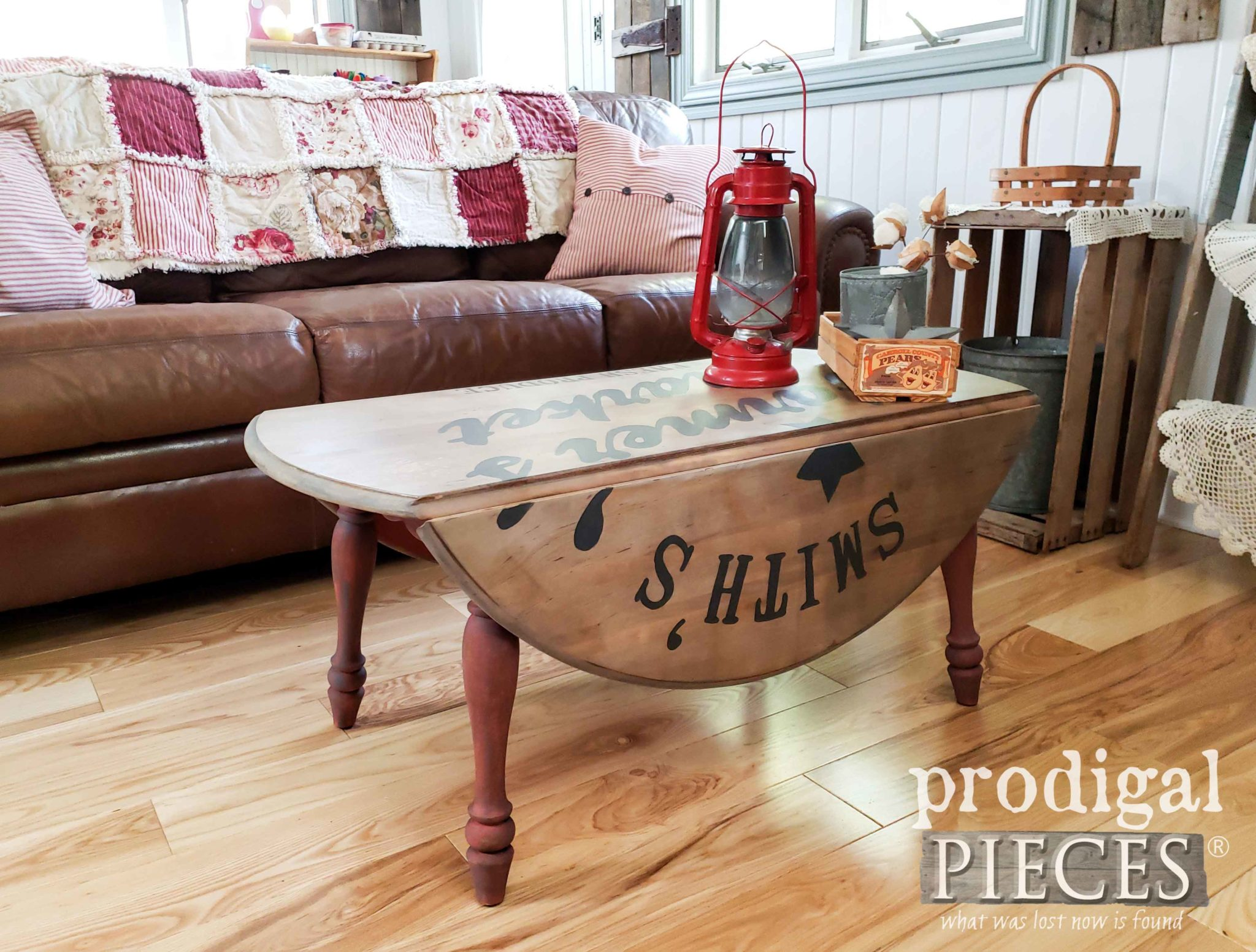 farmhouse drop leaf coffee table with