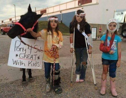 pony great iwth kids