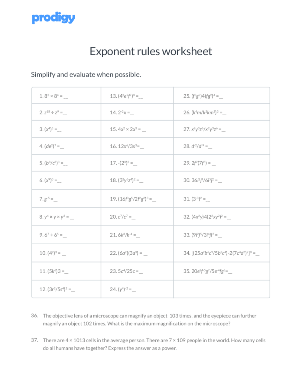 medium resolution of Exponent rules: 7 key strategies to solve tough equations   Prodigy  Education