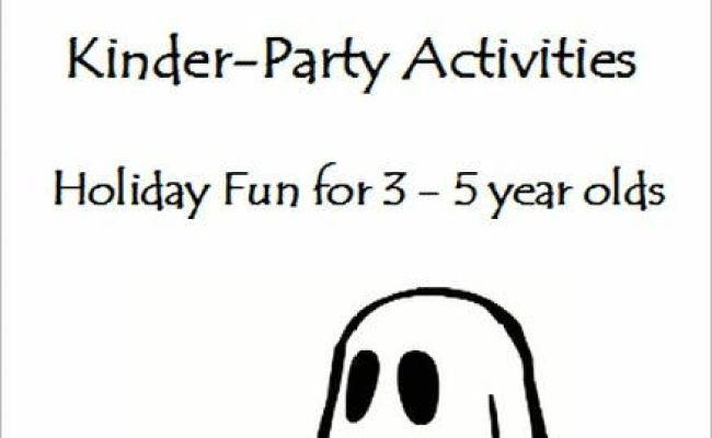 Halloween Kinder Party Activities Activities Crafts