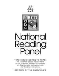 Teaching Children To Read: An Evidence-Based Assessment of