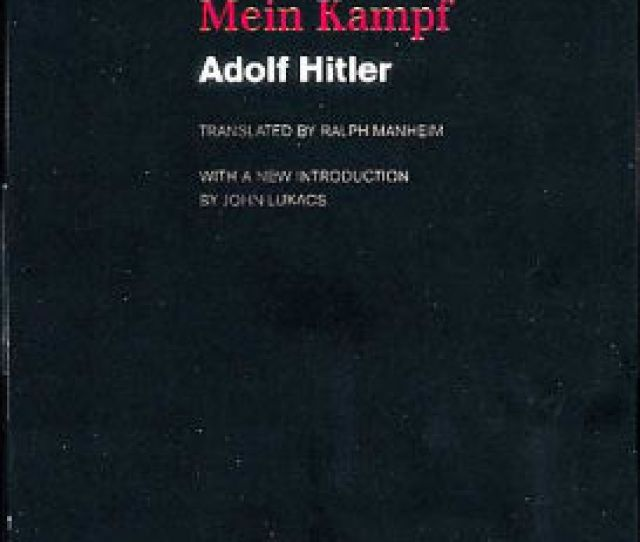 Mein Kampf Ralph Manheim Translation By Adolf Hitler Paperback