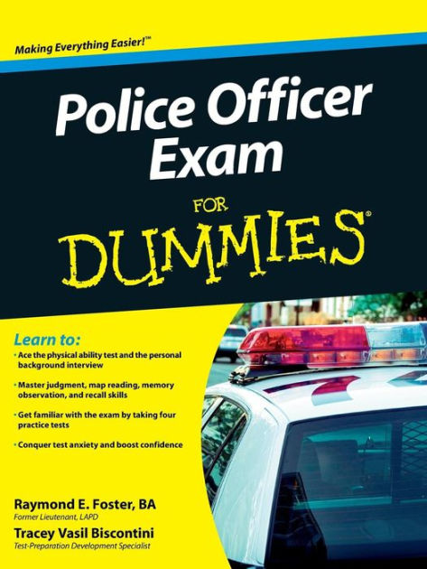 Police Officer Exam For Dummies By Raymond Foster Tracey