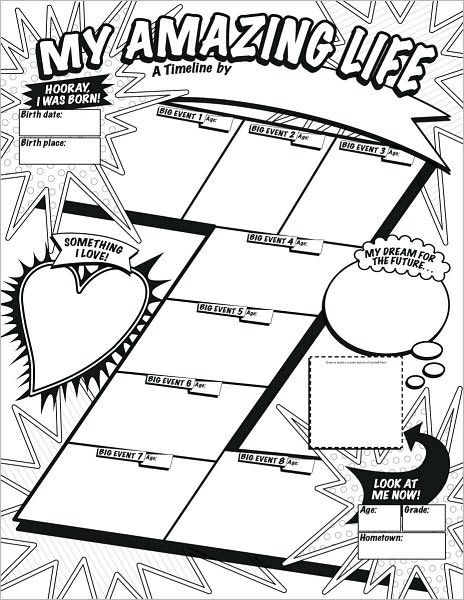 Graphic Organizer Posters: My Timeline GRADES 3-6: 30 Fill