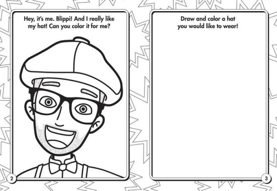 Blippi: I Like That! Coloring Book with Crayons: Blippi