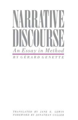 GERARD GENETTE NARRATIVE DISCOURSE PDF