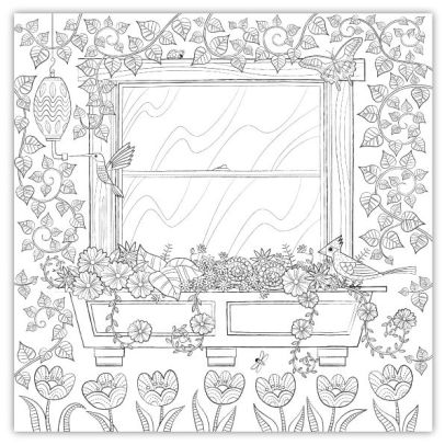 Home Sweet Home: A Hand-Crafted Adult Coloring Book by