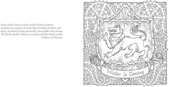 The Official A Game of Thrones Coloring Book by George R
