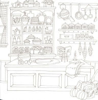 Romantic Country: A Fantasy Coloring Book by Eriy