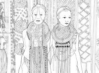 Pocket Posh Panorama Adult Coloring Book: Fashion Unfurled ...
