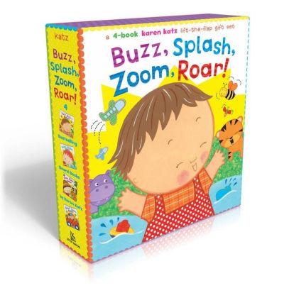Buzz Splash Zoom Roar! 4 Book Karen Katz Lift The Flap Gift Set