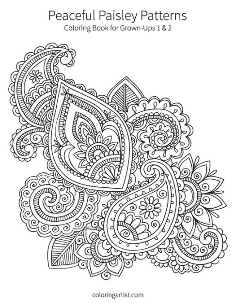 Peaceful Paisley Patterns 1 & 2: Coloring Book for Grown