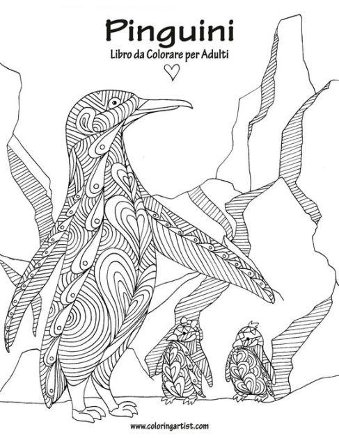 Pinguini Libro da Colorare per Adulti 1 by Nick Snels